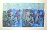 Blue Men by Maisie Parker, Artist Print, Mixed print media