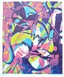 Chaos Theory by Maisie Parker, Artist Print, Reduction lino print.