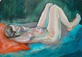 Lady Chaise by Maisie Parker, Painting, Oil on Paper
