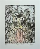 Night Owl by Maisie Parker, Artist Print, Collograph