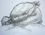 Obeisance by Maisie Parker, Drawing, Charcoal on Paper