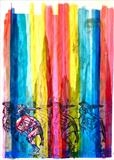 Rainbow Warrior by Maisie Parker, Painting, Mixed Media on paper