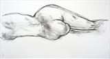 Stretch by Maisie Parker, Drawing, Charcoal on Paper