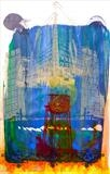 Watertower Fire by Maisie Parker, Painting, Mixed Media on paper